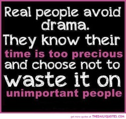 Real people avoid 