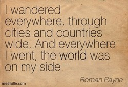 I wandered