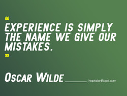 EXPERIENCE IS SIMPLY 
