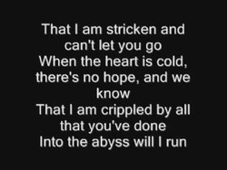 That I am stricken and 