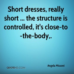 Short dresses, really 