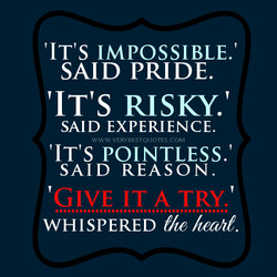'IT's IMPOSSIBLE.' 