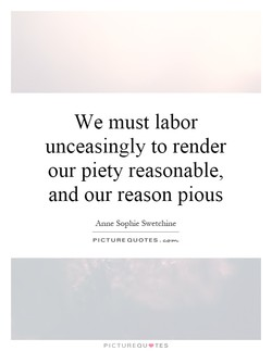 We must labor 