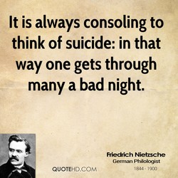 It is always consoling to