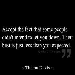 Accept the fact that some people 