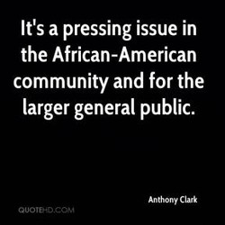 It's a pressing issue in 
