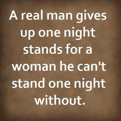 A real man gives 