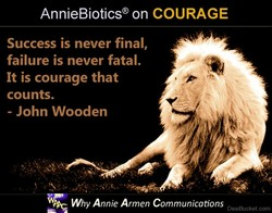 AnnieBiotics@ on COURAGE 