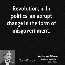 Revolution, n. In 