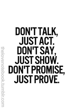 DON'T TALK, 