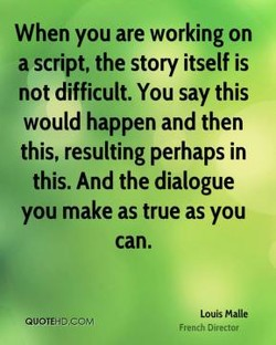 When you are working on 