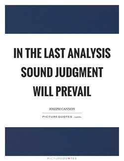 IN THE LAST ANALYSIS 