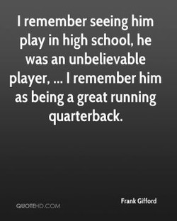 I remember seeing him 