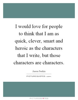 I would love for people 