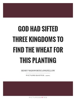 GOD HAD SIFTED 