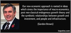 Our new economic approach is rooted in ideas 