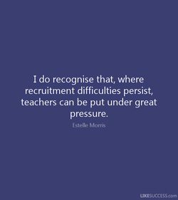 I do recognise that, where 