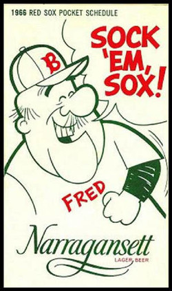 1966 RED SOX POCKET SCHEDULE 