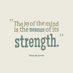 The joy of the mind 