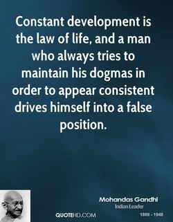 Constant development is 