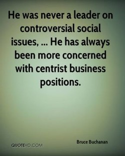 He was never a leader on 