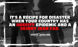 IT'S A RECIPE FOR DISASTER 
