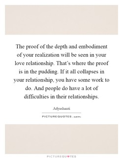The proof of the depth and embodiment