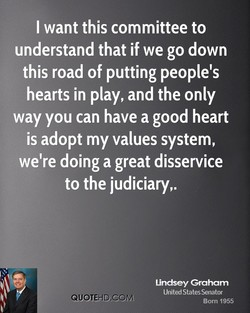 I want this committee to