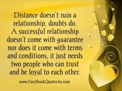 Distance doesnit ruin a 