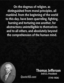 On the dogmas of religion, as