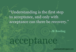 Understanding is the first step 