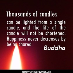 Thousands of candles 