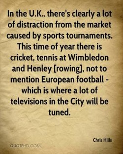 In the U.K., there's clearly a lot 