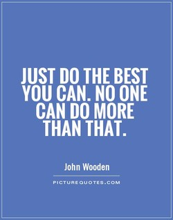JUST DO THE BEST 