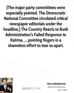 [The major party committees were 