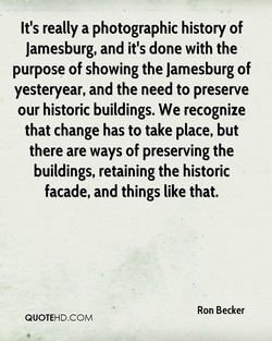 It's really a photographic history of 