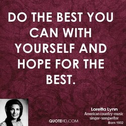 DO THE BEST YOU 