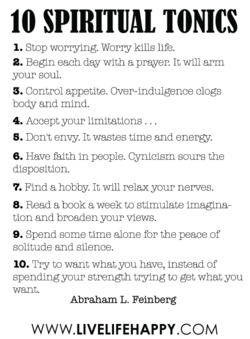 10 SPIRITUAL TONICS 