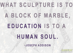 WHAT SCULPTURE IS TO 