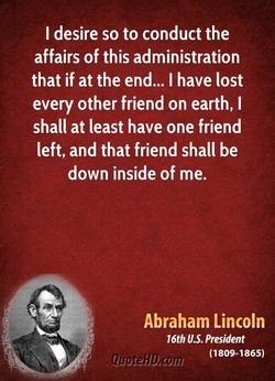 I desire so to conduct the 