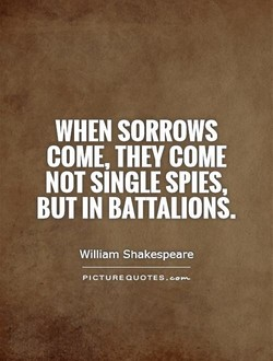 WHEN SORROWS 