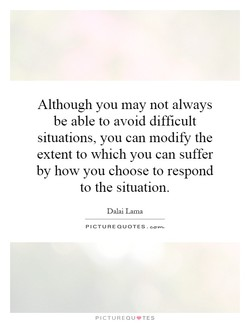 Although you may not always 