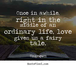 Once in awhile, 