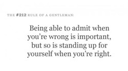THE #212 RULE OF A GENTLEMAN: 