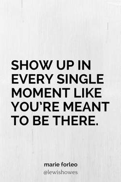 SHOW UP IN 