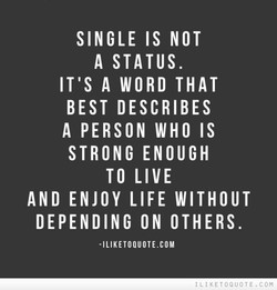 SINGLE IS NOT 