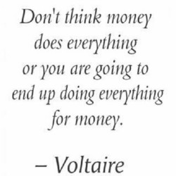 Don't think money 
