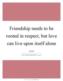 Friendship needs to be 