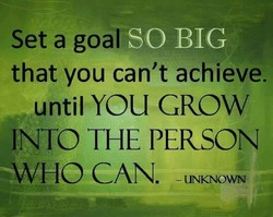 Set a goal 