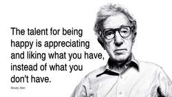 The talent for being 